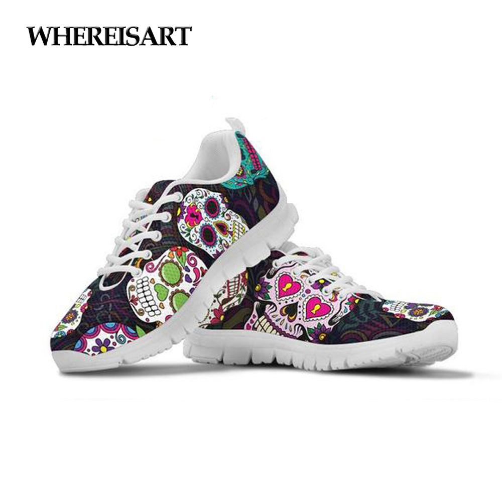 3d skull colorful skull Fashion Sneakers for Men sports Breathable and Lightweight Casual Shoes
