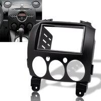 Car Stereo Fascia Dash Panel 2 Din Frame Trim ABS Fit For Mazda 2/Demio 07 14