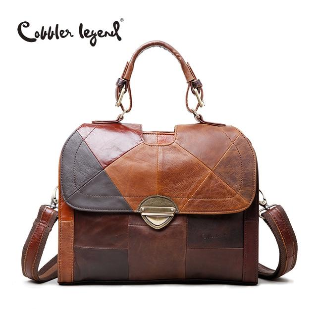 Cobbler Legend Women's Shoulder Messenger Bags Retro Genuine Leather Lady Female Handbag Women Vintage Style Hand Bag 12060310-1