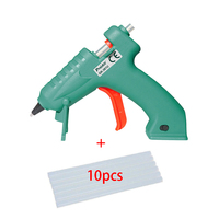 Portable 3.6V 2000mAh 8w USB Rechargeable Lithium Electric hot Melt Glue Gun + 10Pc 70*200mm Transparent glue stick