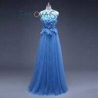 Lange Abendkleid Blau Formale Importiert Party Abendkleid Elegante Plus Größe vestidos de festa vestido longo abendkleider 2017