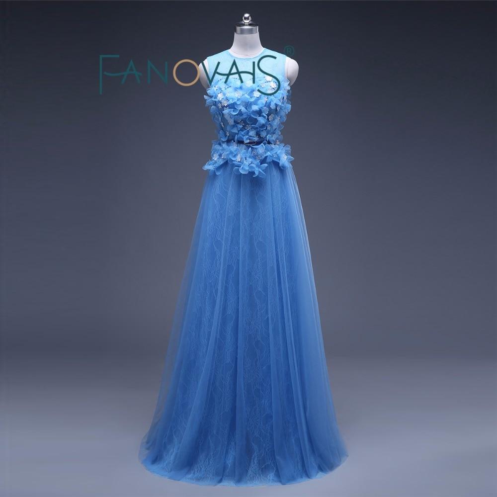 Longue robe de soirée bleu formel importé soirée élégante robe grande taille vestidos de festa vestido longo abendkleider 2019