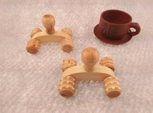 Special Handmade Wooden Body Massage 4 Wooden Wheels Roller Massager Relaxation J21