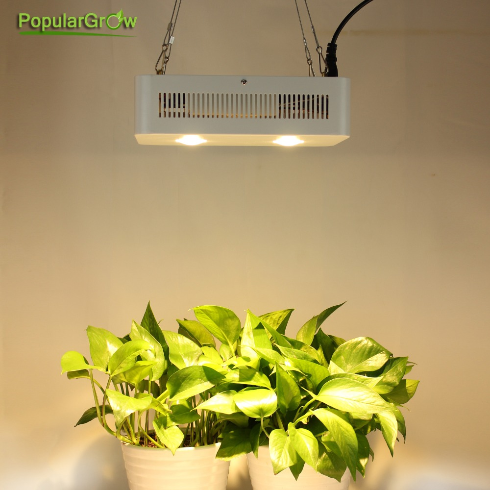 populargrow 400w full sepctrum cob led grow light with lens using cree cxa3070 chip best for indoor tent greenhouse plant lamp