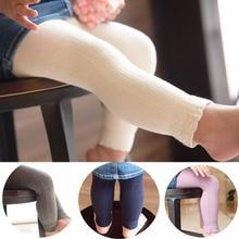 Хлопковые От 0 до 2 лет леггинсы для маленьких девочек вязаные штаны весенне-осенние штаны в Вертикальную Полоску