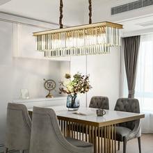 Gold or Black New Crystal Modern Led Pendant Lights For Living Room Dining Room Kitchen Room Bar etc Home Deco Pendant Lamp