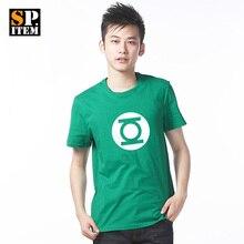 Free Shipping The Justice League Green Lantern Symbol Pattern Superhero T Shirt 100 Cotton Green 10