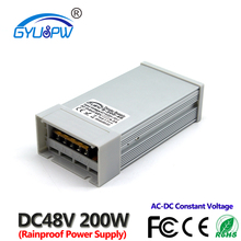 Одиночный выход 48 Вольт непромокаемый переключатель питания для ЧПУ 3D печати 48 В 4.2A 200 Вт Светодиодный драйвер AC100-240V вход для DC48V SMPS