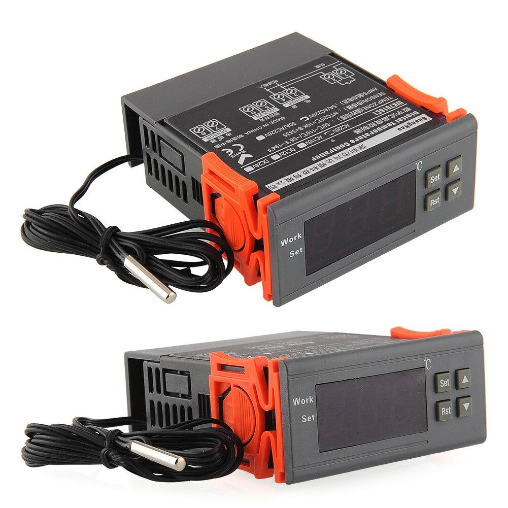 Universal LCD 220V Digital controlador de Temperatura Do Termostato Termostato Relé Relé de Saída-50 ~ 120 Graus com Sensor NTC