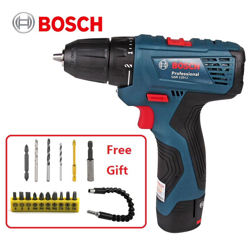 BOSCH New Design Power Drill DIY Lithium-Ion Battery Cordless Electric Power Driver Drill Bits Tool Woodwork Steel Drill