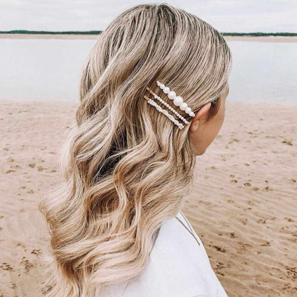 5pcs Hair Barrettes Hair Pins Decorative Wedding Bridal Artificial Pearl Hairpins Jewelry Accessories  Hairpin 0531