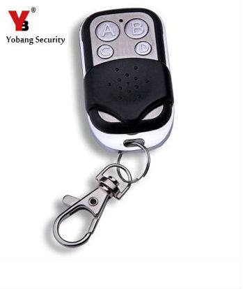 YobangSecurity 2pcs/lot wireless 433Mhz EV1527 metal remote control for YB103/YB104 alarm system free shipping 1 pcs lot new classic wireless metal remote control controller keyfobs keychain 433mhz just for our alarm system