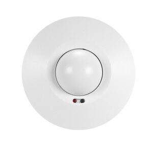Image 2 - Czujnik mikrofalowy włącznik światła sufitowe czy szukasz PIR ciała wykrywacz ruchu 360 stopni ustawienie czasu 5.8 GHz HF system