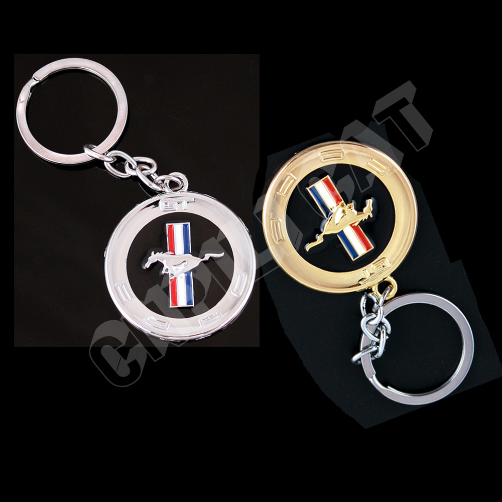 D Horse Logo Car Key Ring Key Chains For Ford Mustang Gt Shelby Etc Gold Silver In Key Rings From Automobiles Motorcycles On Aliexpress Com Alibaba