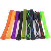 1pc 35mm*170cm Elastic Tangle Fishing Rod Protective Sheath Jacket Net Tube Cover Sleeve Fishing Rod Protective