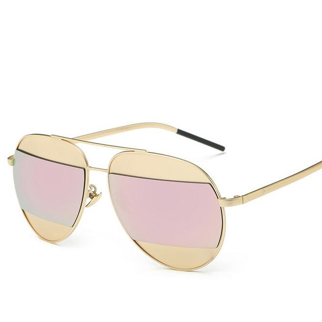 Fashion Aviation Sunglasses Women Brand Designer Mirror Coating Vintage Copper Frame Ladies Summer Sun Glasses for Women Men цена