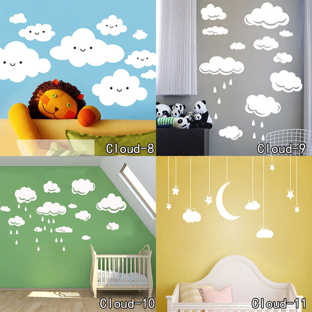 Beautiful Cloud Wall Decal Clouds Sticker Kid Bedroom Wall ...