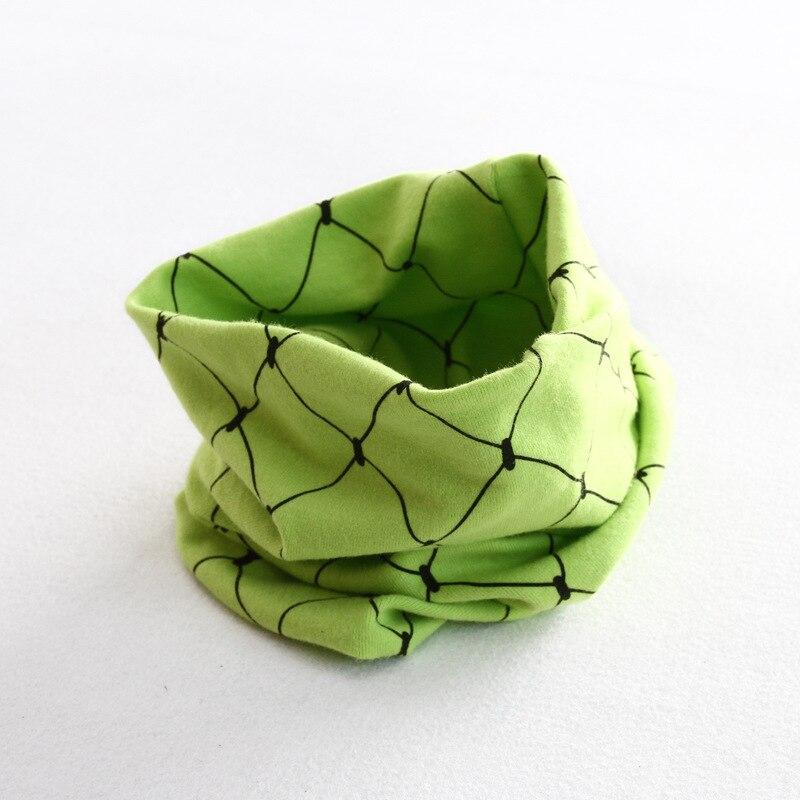 Осенне-зимний детский хлопковый шарф для девочек и мальчиков теплые шарфы Детский круглый кольцевой ошейник Детский шарф детский волшебный шейный платок - Цвет: grid 5