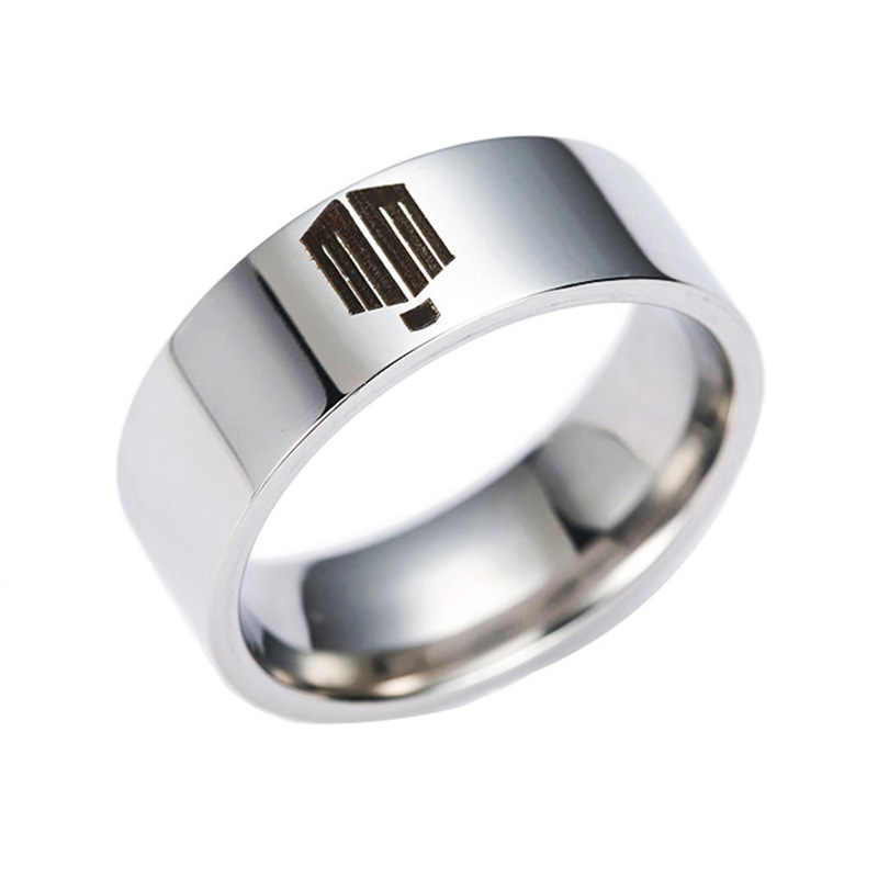 1PC Retail Doctor Who Stainless steel ring titanium steel Ring #7-13