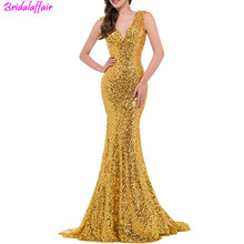 Mermaid Sequin Evening Long Dressrs 2019 Women New Sexy Gold Cheap Banquet Party Gown Dinner Dress