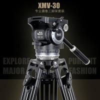 XILETU XMV 30 Aluminum Professional Tripod for camera stand / DSLR video tripods / Fluid Head Damping