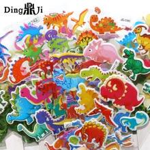 10Sheets Cartoon Dinosaur 3D Stickers Pack Animal pegatinas Toys laptop motorcycle skateboard Book Adesivos Waterproof