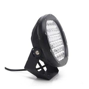 Image 3 - 2Pcs 9 אינץ LED עבודת אור בר 96W LED אור בר 12V 24V ספוט עבור 4WD 4x4 משאית קרוואן SUV Offroad סירת טרקטורונים נהיגה אור