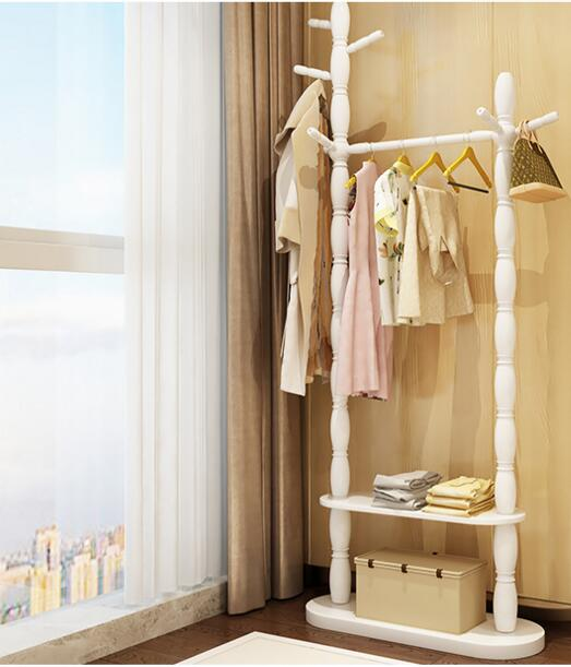 Coatrack ground solid wood home to hang clothes. The bedroom shelf. вешалка coatrack 20х70х28