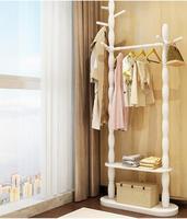 Perchero suelo madera maciza casa para colgar la ropa. El dormitorio estante.