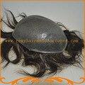 Мужские парик тонкая кожа базы размер 8*10 дюймов или других размер Индийский реми волосы мужской парик фондовой бесплатная доставка