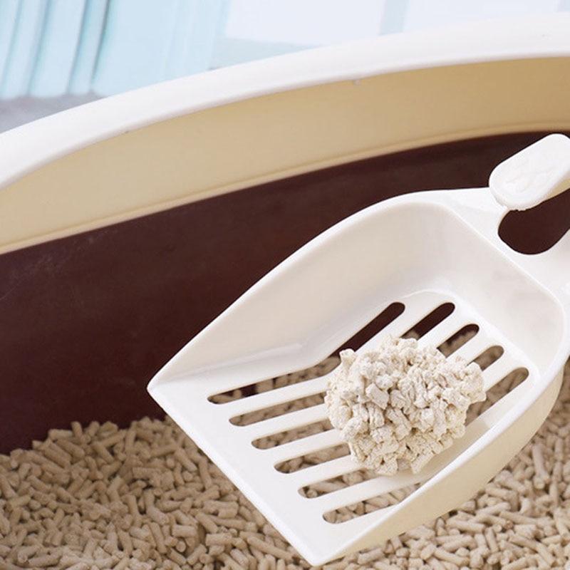 1 Pcs Pet Cat Litter Shovel Scoop Sand Poop Waste Scooper Durable Cleaning Tool P7Ding