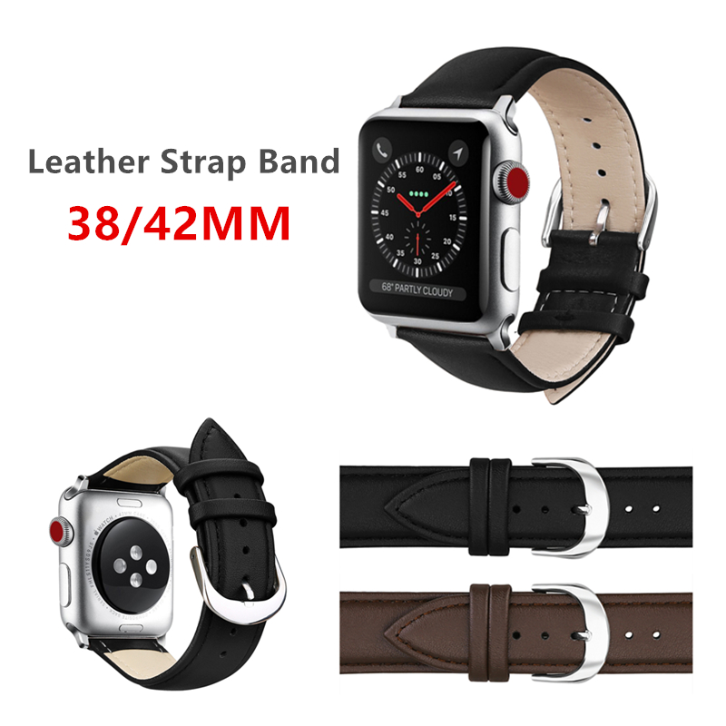 New Design Watch Accessories Leather Loop Watchband For Apple Watch Bands 38MM & Apple Watch Strap 42MM iWatch Bracelet 38mm 42mm apple watchband special design handmade leather watch strap 4 color available for iwatch apple watch free shiping