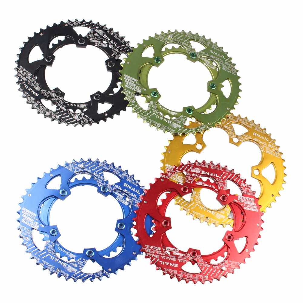 SNAIL 110bcd 50//35T Road Bike Chainring Double Speed Oval Chainwheel Disc Bolts