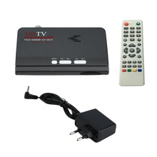 High Quality Digital Terrestrial HDMI 1080P DVB-T T2 TV Box VGA AV CVBS Tuner Receiver EU Plug With Remote Control HOT