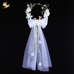 XinYun Свадебная Цветочная Корона Бабочка повязка для волос венок из цветов на голову для женщин цветок оголовье невесты головной убор для
