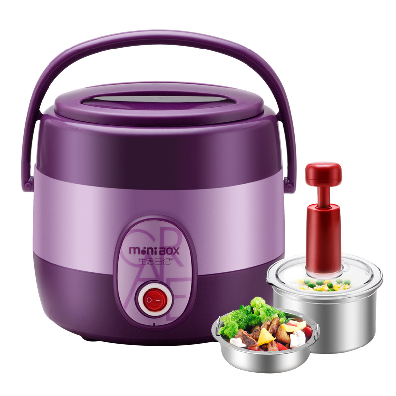 Electric Lunchbox Rice Cooker Double Insulation Portable Plug In Heating Cooking 1L 1-2 People indutrial rice cooker parts rice cooking machine u shape stainless steel heating tube 380 voltage 4kw