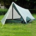 La famosa marca de ultra-ligero de una sola capa carpa suministros para acampar protector solar resistente al agua para 1 persona tienda de campaña ultraligera F141