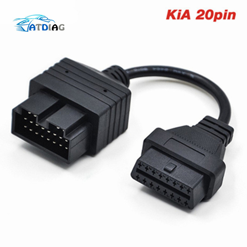 2018 for KIA sportage Diagnostic Cable OBD 20 pin to OBD 2 16pin Car Diagnostics Adapter 20 pin for KIA 20pin OBD2 Car Connector