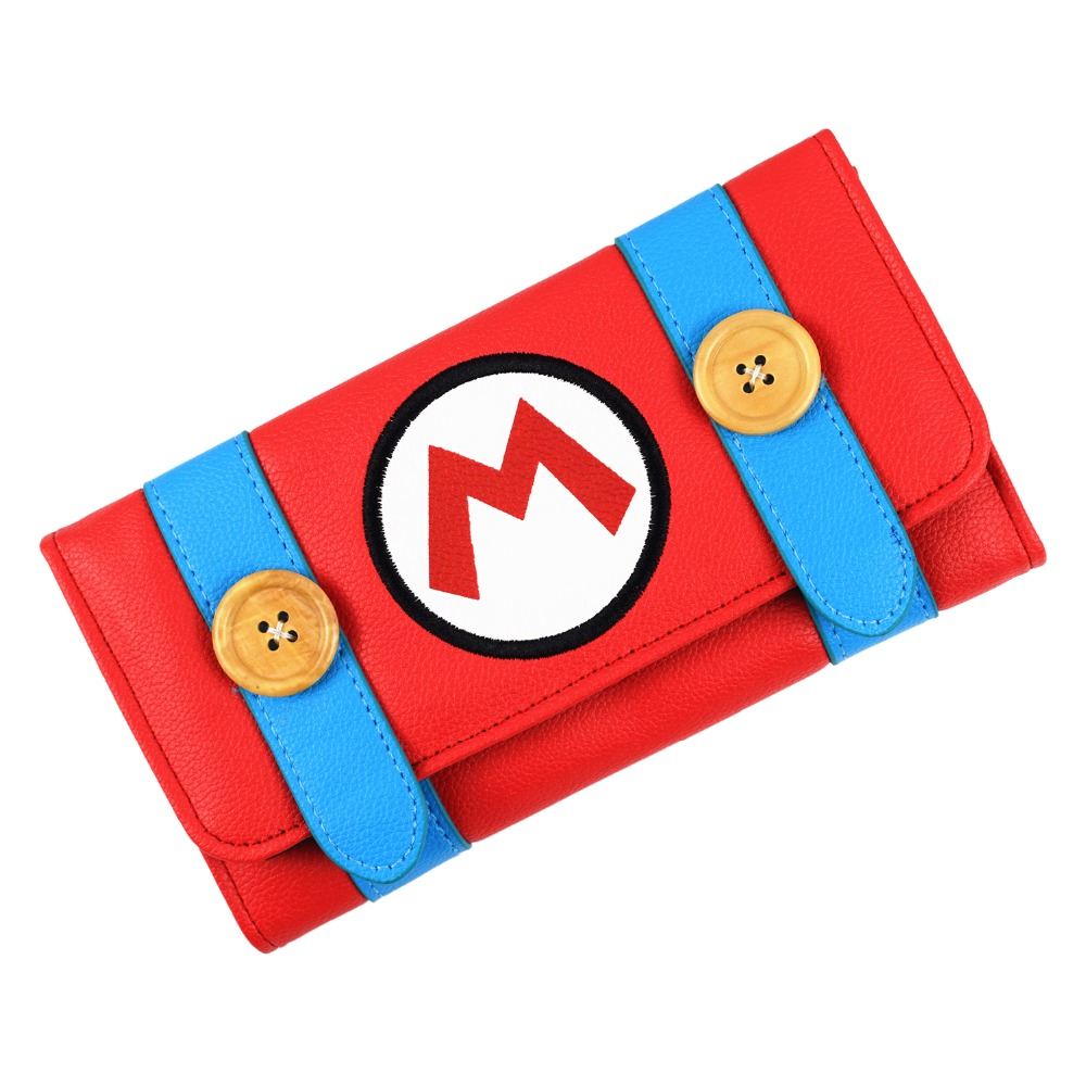 FVIP New Design Wallet Super Mario Cartoon Long Purse for Young Women With Card Holder