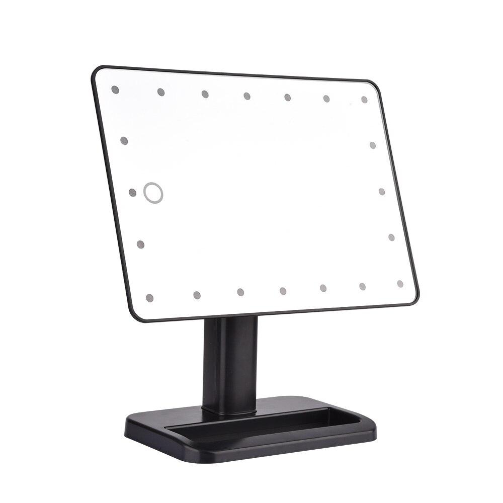 LED z bluetooth ekran dotykowy głośnik lustro do makijażu z 10X lupa 20 diody oświetlony kosmetyczne regulowany w łazience blat lustro w Lustra do makijażu od Uroda i zdrowie na  Grupa 3