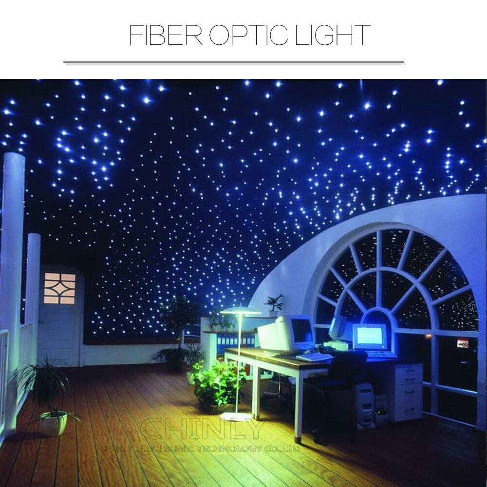 Us 111 78 33 Off 550pcs 0 75mm 4m 13ft Led Fiber Optic Light Kit Star Sky Ceiling 16w Rgbw For Lighting In