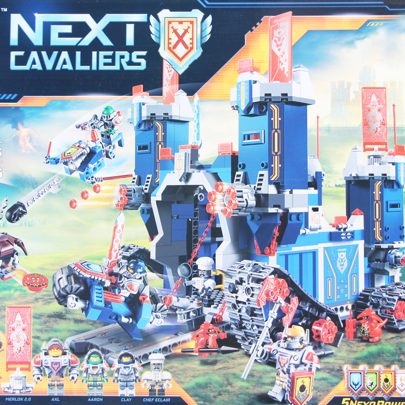 Model 14006 1115Pcs Nexus Knights The Fortrex Castle Building Block Clay Aaron Fox Axl Compatible 70317 Bricks for Children