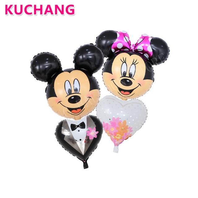 2pcs/lot Minnie Mickey Mouse Bride Groom Wedding Dress Suit Cartoon ...