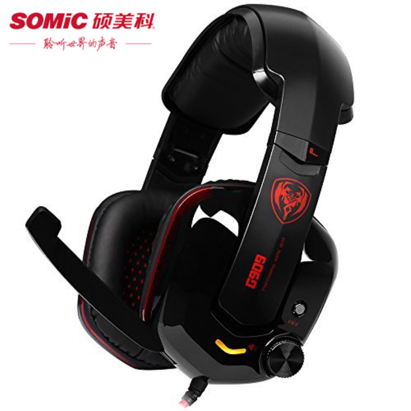 Pro Gaming Headphones with Microphone/USB Plug Somic G909 Ecouteur 7.1 Surround Sound Game Stereo Headphone Headset+ Shock