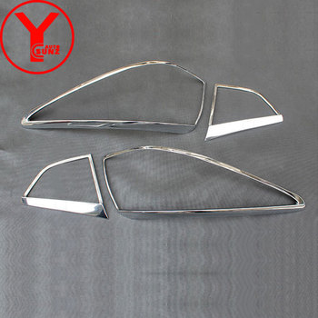 YCSUNZ ABS chrome schwanz lichter lampe abdeckung außen teile auto zubehör Für Hyundai IX35 facelift 2010 2011 2012 2013 2014 2015