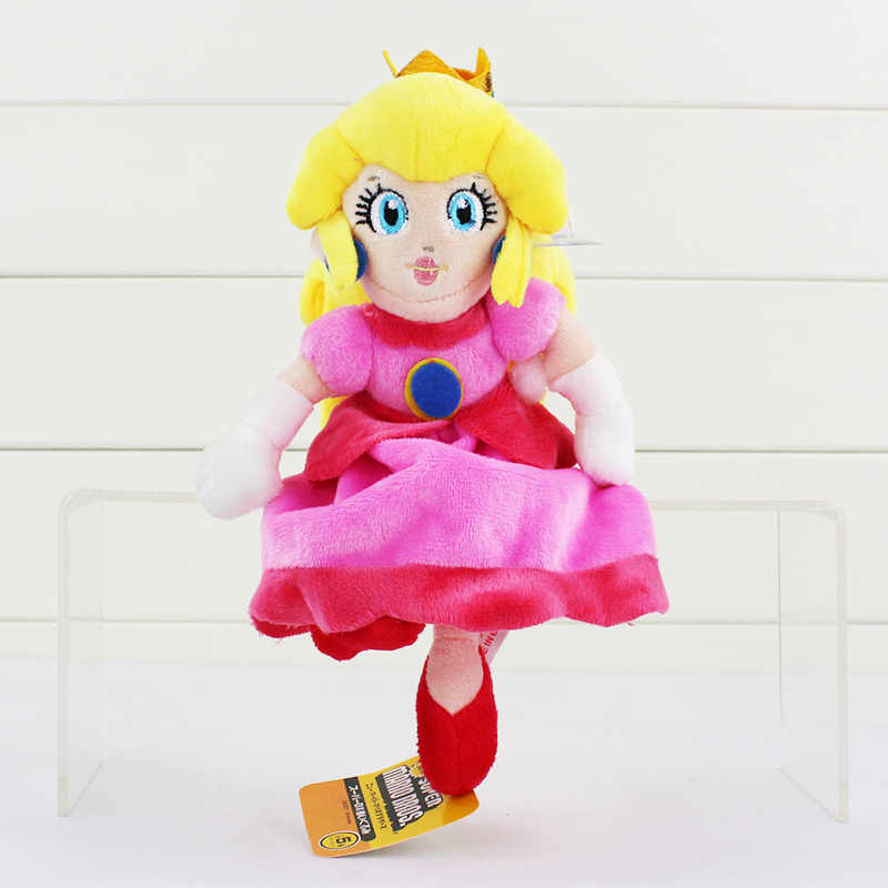 9 ''22 cinco centímetros Super Mario Bros PRINCESS PEACH Plush Doll Super Mario Princesa Brinquedos de Pelúcia