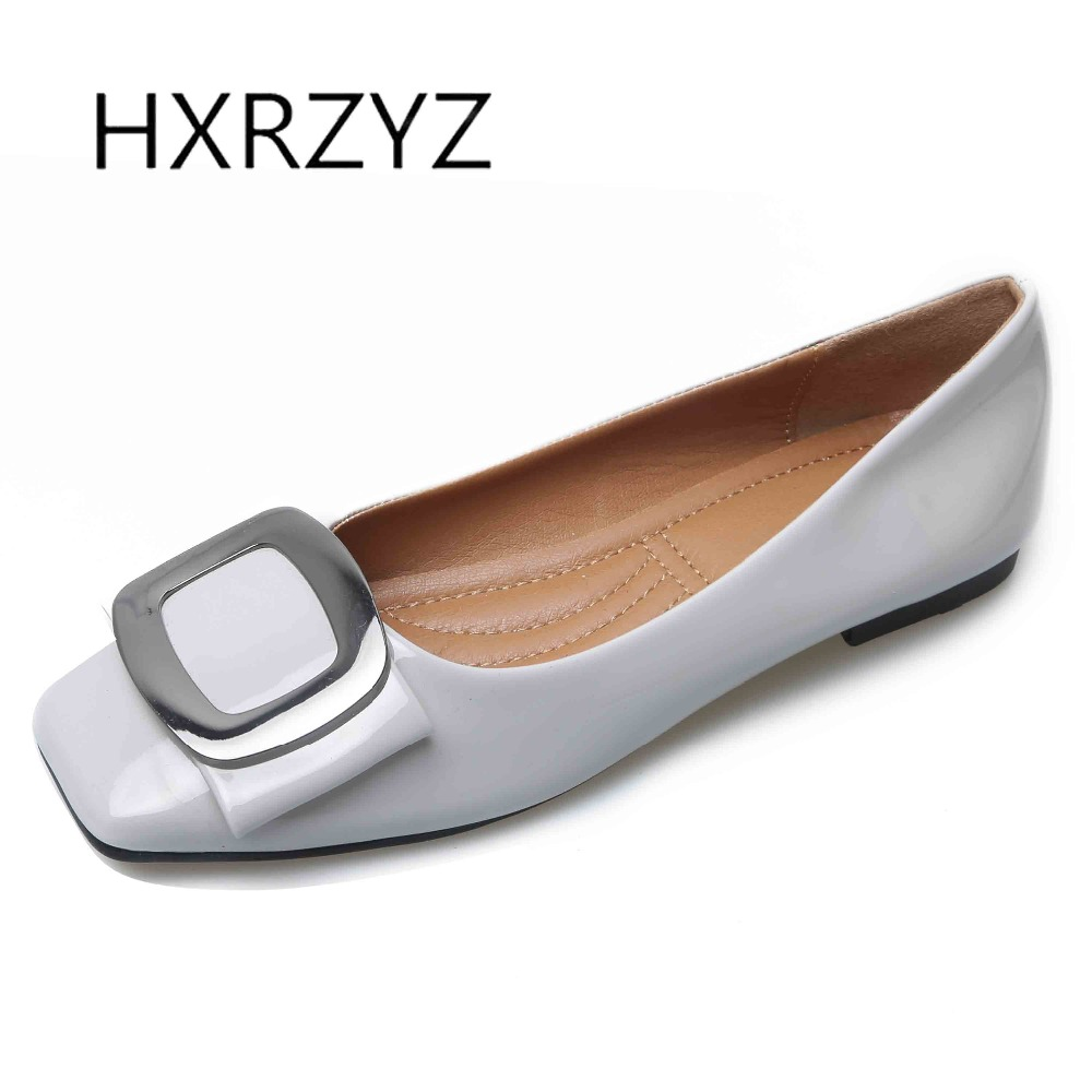 HXRZYZ large size women black flat shoes patent leather loafers spring/autumn new fashion square toe metal buckle casual shoes fashion tassels ornament leopard pattern flat shoes loafers shoes black leopard pair size 38
