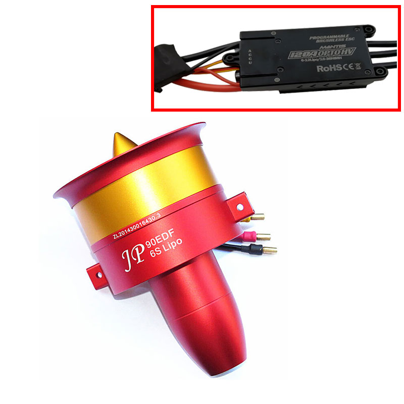 EDF металлический импеллер JP 90 мм EDF набор ESC с тремя выбор двигателя: 4250 KV1750 двигателя (6 S), 4250 KV1330 (8 s), 4250 KV1050 (12 s)