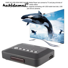 Kebidumei 1080P HD Media player TV Videos para SD MMC RMVB MP3 Multi TV USB compatible con HDMI Media Player Box