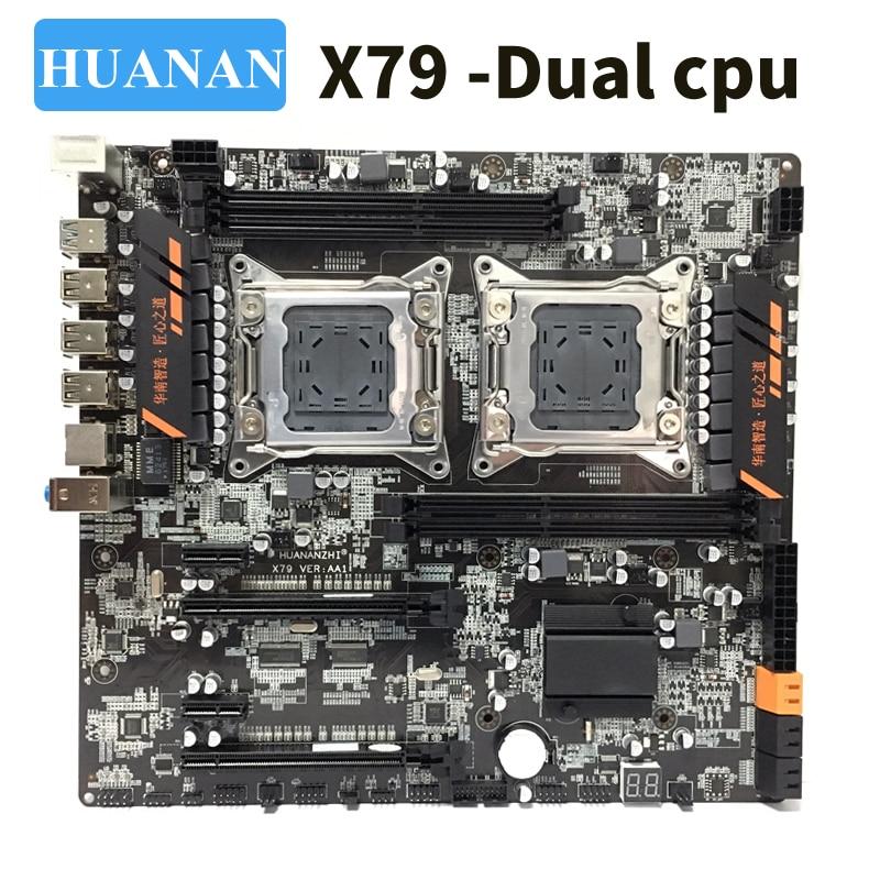 HUANAN huananzhi X79 double CPU LGA2011 LGA 2011 carte mère avec double processeur DDR3
